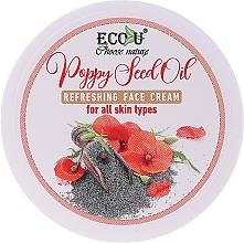 Parfumuri și produse cosmetice Cremă cu ulei de semințe de mac pentru toate tipurile de ten - Eco U Poppy Seed Oil Refreshing Face Cream For All Skin Type