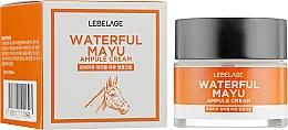 Parfumuri și produse cosmetice Cremă cu extract de ulei de cal pentru față - Lebelage Waterful Mayu Ampule Cream