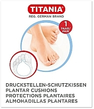 Parfumuri și produse cosmetice Plasture de protecție a tălpilor, 1 pereche - Titania Plantar Cushions