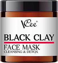 Parfumuri și produse cosmetice Mască cu argilă neagră pentru față - VCee Black Clay Face Mask Cleansing&Detox