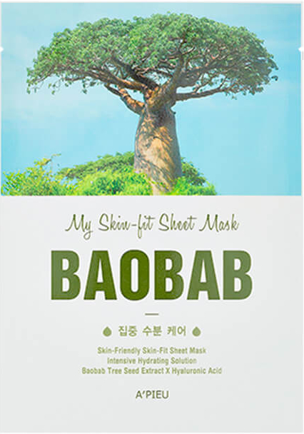 Mască facială cu extract de baobab - A'Pieu My Skin-Fit Sheet Mask Baobab — Imagine N1