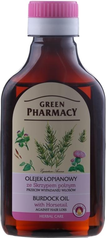 Ulei de brusture cu extract de coada calului împotriva căderii părului - Green Pharmacy