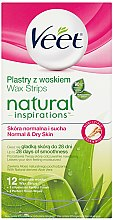 Parfumuri și produse cosmetice Benzi depilatoare cu Aloe Vera - Veet Natural Inspirations Slices Of Wax Normal And Dry Skin