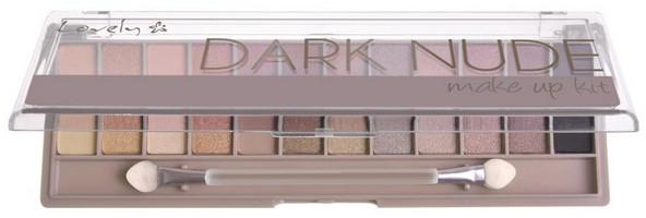 Paleta fard de pleoape - Lovely Dark Nude Make Up Kit