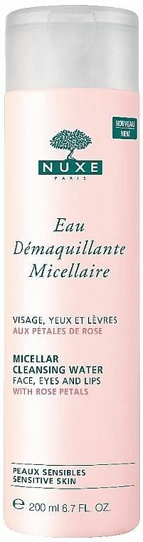 Apă micelară de curățare cu petale de trandafir - Nuxe Micellar Cleansing Water With Rose Petals