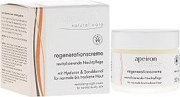 Parfumuri și produse cosmetice Cremă de noapte regenerantă pentru piele normală și uscată - Apeiron Night Regeneration Cream
