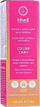 Parfumuri și produse cosmetice Ulei ayurvedic pentru păr - Khadi Ayurvedic Color Care Hair Oil