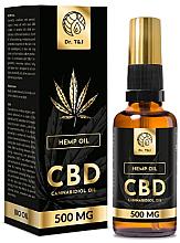 Parfumuri și produse cosmetice Ulei natural de cânepă Bio CBD 500mg - Dr. T&J Bio Oil