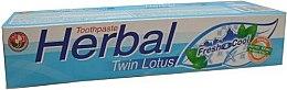 Parfumuri și produse cosmetice Pastă de dinți, pe bază de plante - Twin Lotus Fresh & Cool