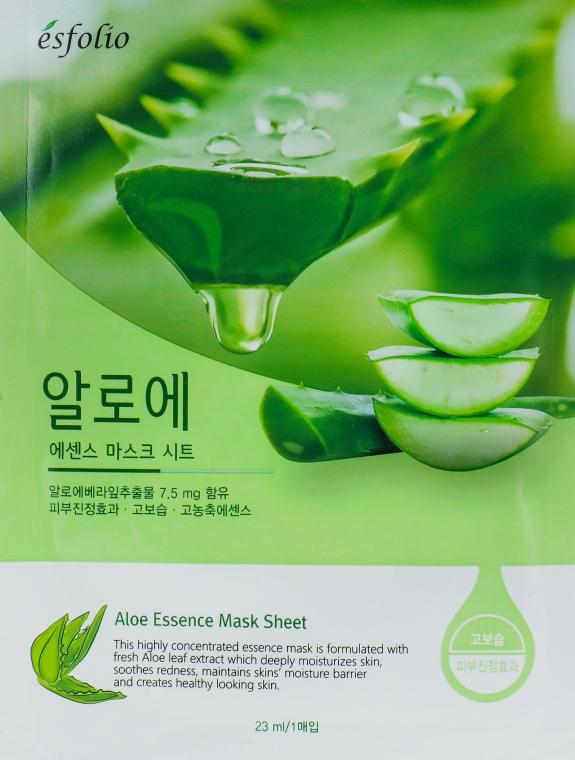 """Mască din țesătură pentru față """"Extract de Aloe Vera"""" - Esfolio Aloe Essence Mask Sheet"""