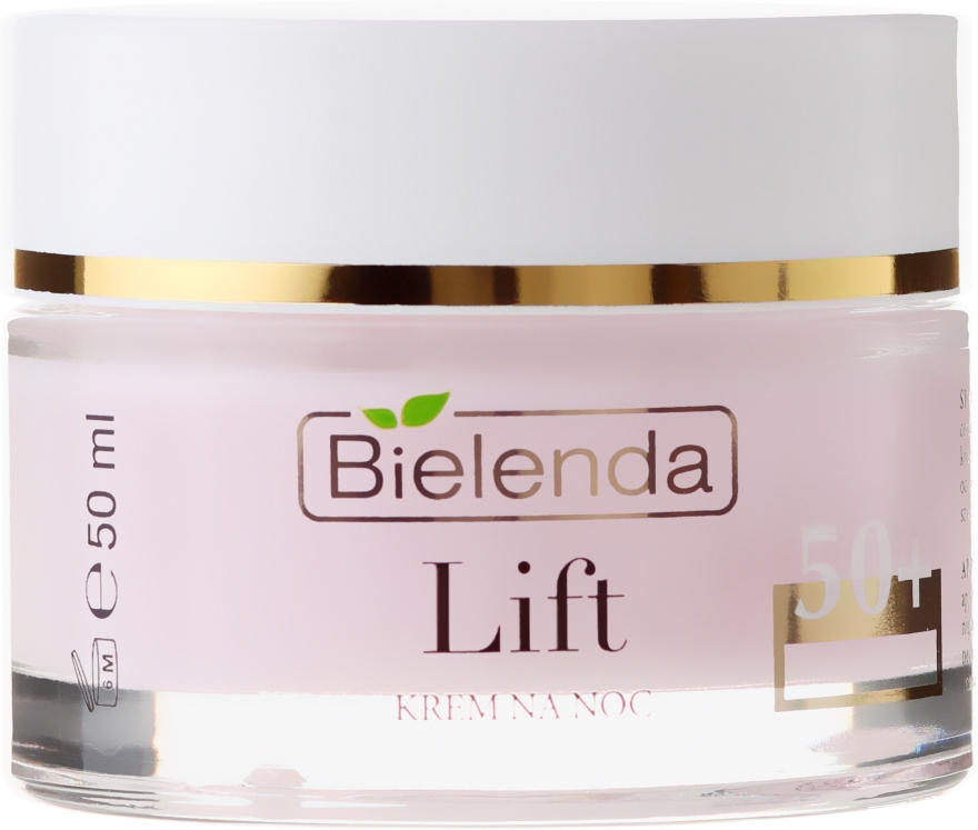 Cremă-lifting regeneratoare de noapte împotriva ridurilor 50+ - Bielenda Lift Lifting Repairing Anti-wrinkle Night Cream — Imagine N2
