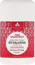 "Parfumuri și produse cosmetice Deodorant stick ""Grapefruit roz"" - Ben & Anna Natural Soda Deodorant Pink Grapefruit"