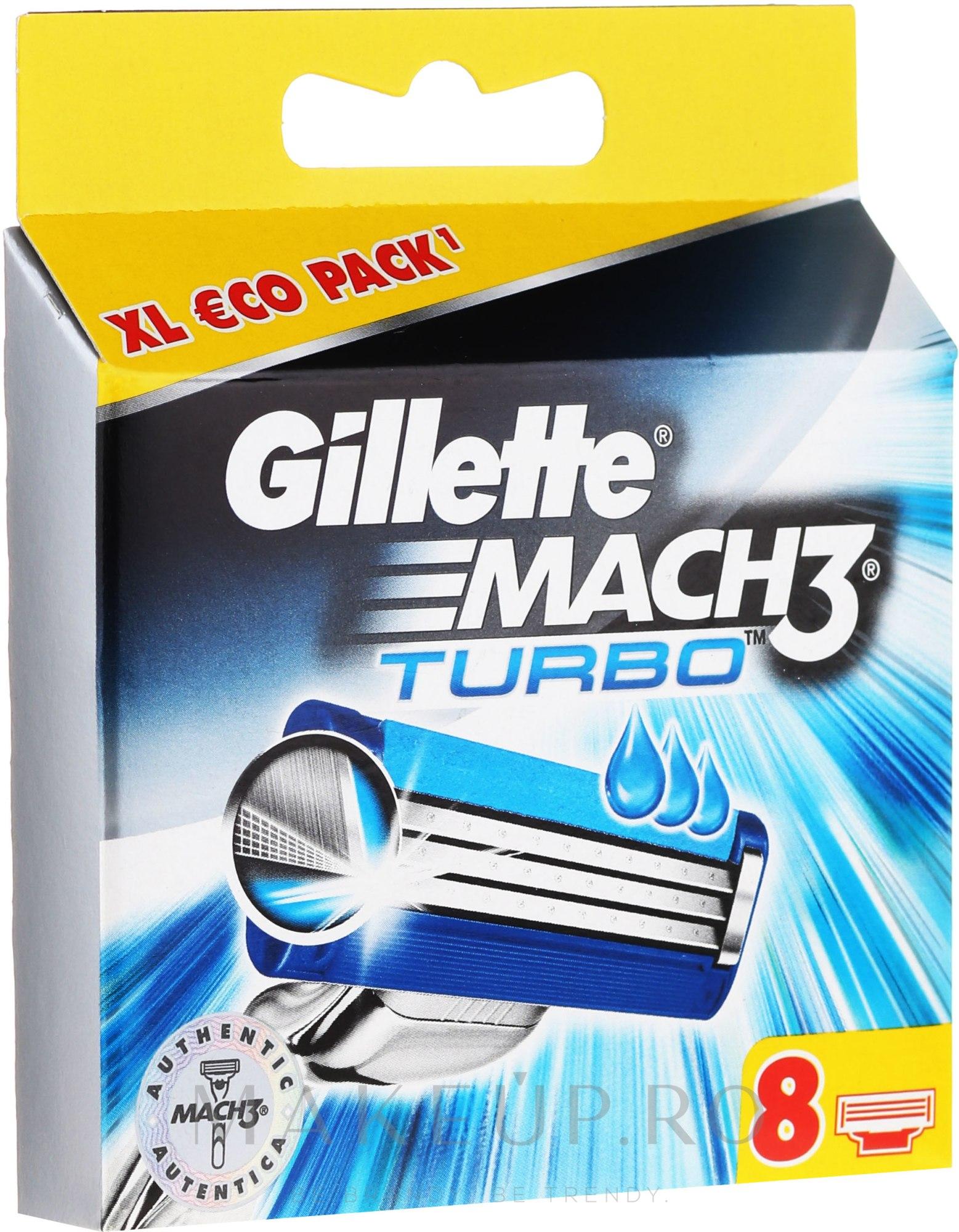 Casete de rezervă pentru aparat de ras - Gillette Mach3 Turbo — Imagine 4 buc