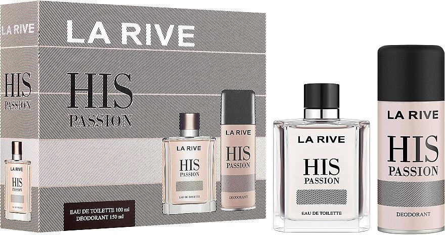 La Rive His Passion - Set (edt/100ml + deo/150ml)