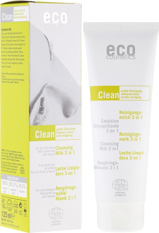 Lăptișor de curățare 3 în 1, ceai verde și mirt - Eco Cosmetics — Imagine N1