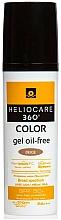Parfumuri și produse cosmetice Gel de protecție solară pe bază de apă - Cantabria Labs Heliocare 360 Gel Oil Free Color