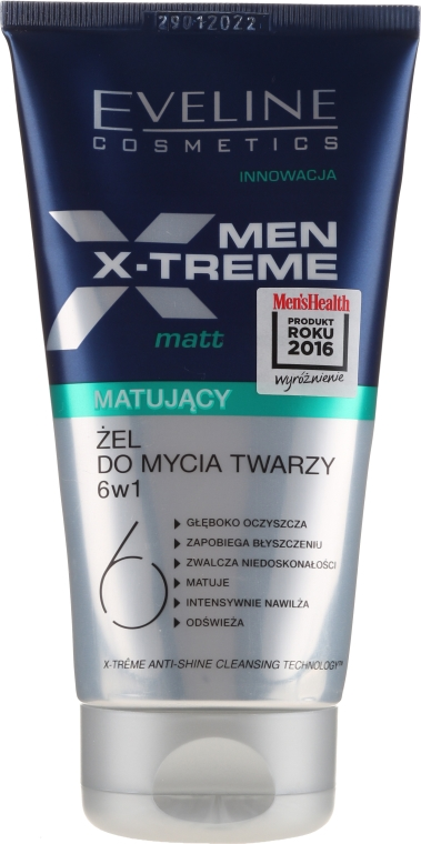 Gel matifiant pentru față - Eveline Cosmetics Men Extreme