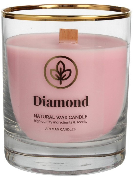 Lumânare aromată, 8x9.5 cm - Artman Diamond — Imagine N1