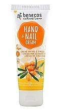"""Parfumuri și produse cosmetice Cremă pentru mâini și unghii """"Cătină și portocală"""" - Benecos Natural Care Sea Buckthorn & Orange Hand And Nail Cream"""