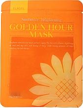 Parfumuri și produse cosmetice Mască din țesătură cu efect iluminant pentru față - Elroel Golden Hour Mask Sunflower Brightening