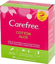 Parfumuri și produse cosmetice Absorbante pentru uz zilnic, cu extract de aloe, 56 buc. - Carefree Cotton Aloe