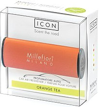 """Parfumuri și produse cosmetice Aromatizator auto """"Classic: ceai de portocale"""" - Millefiori Milano Icon Car Air Freshener Orange Tea"""