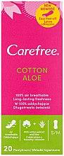 Parfumuri și produse cosmetice Absorbante pentru uz zilnic, cu extract de aloe, 20 buc. - Carefree Cotton Aloe