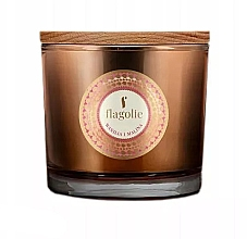 "Parfumuri și produse cosmetice Lumânăre aromată, în pahar ""Vanilie și Zmeură"" - Flagolie Fragranced Candle Vanilla And Raspberry"
