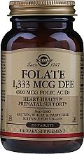 "Parfumuri și produse cosmetice Supliment alimentar ""Acid folic"" în tablete - Solgar Folate 1,333 MCG DFE (800MCG Folic Acid) Tablets"