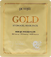 Parfumuri și produse cosmetice Mască antirid pentru față +5 - Petitfee & Koelf Gold Hydrogel Mask Pack +5 Golden Complex