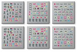 Parfumuri și produse cosmetice Abțibilduri pentru unghii, 6 buc. 42300 - Top Choice Words Neon