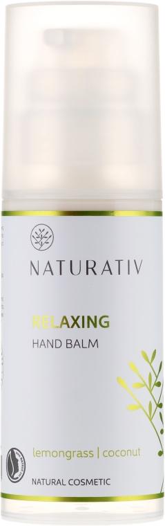 Cremă hidratantă pentru mâini - Naturativ Relaxing Hand Balm Lemongrass — Imagine N1