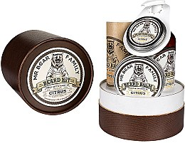 Parfumuri și produse cosmetice Set - Mr. Bear Family Citrus (oil/30ml + wash/250ml + wax/30ml + balm/60ml)