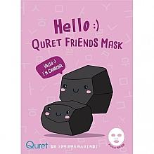 Parfumuri și produse cosmetice Mască cu cărbune pentru față - Quret Hello Friends Mask Charcoal