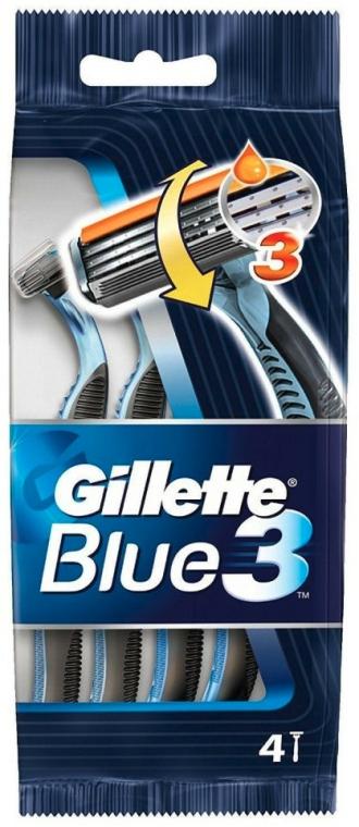 Set aparate de ras, 4 bucăți - Gillette Blue 3 — Imagine N1