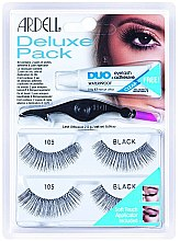 Parfumuri și produse cosmetice Set de gene false - Ardell Eyelash 105 Deluxe Kit Black