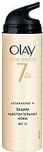 Parfumuri și produse cosmetice Cremă hidratantă de zi - Olay Total Effects Day Cream Sensitive SPF15