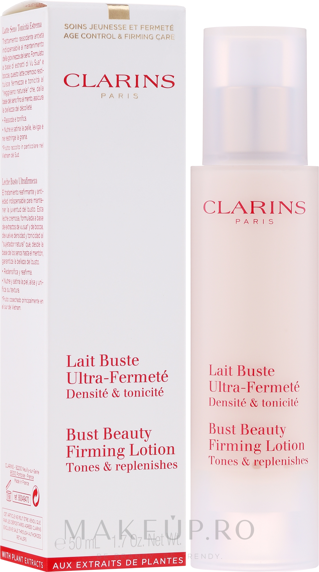 Lapte pentru bust - Clarins Bust Beauty Lotion — Imagine 50 ml