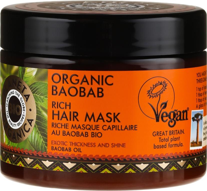 Mască de păr - Planeta Organica Organic Baobab Rich Hair Mask