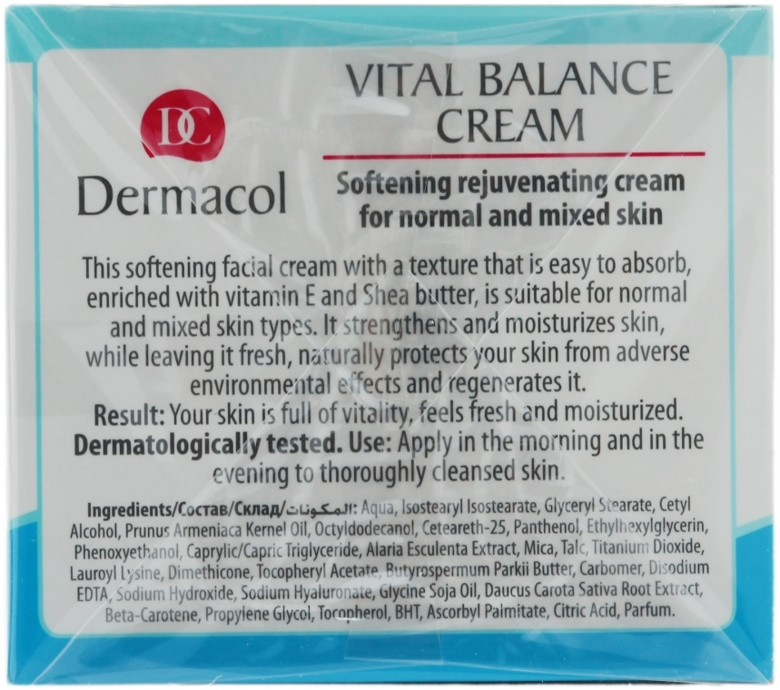 Cremă regenerantă pentru ten normal și combinat - Dermacol Face Care Vital Balance — Imagine N2