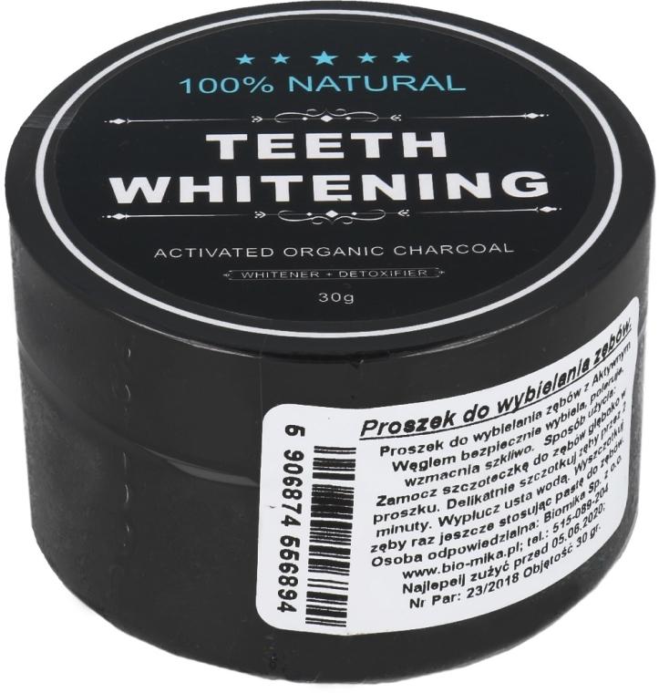Pudră pe bază de cărbune activ, pentru albirea dinților - Biomika Natural Teeth Powder