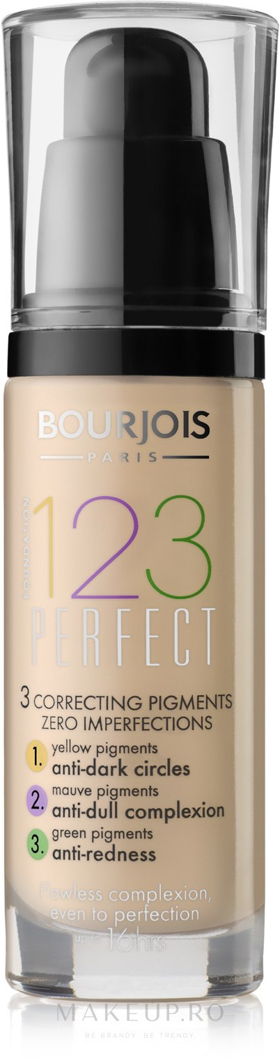 Fondul de ten lichid - Bourjois 123 Perfect — фото 53 - Beige Clair
