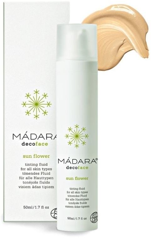 """Fluid tonifiant """"Floarea Soarelui"""" - Madara Cosmetics Sun Flower Tinting Fluid — Imagine N1"""