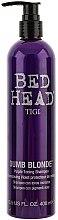Șampon de păr - Tigi Dumb Blonde Purple Toning Shampoo — Imagine N1