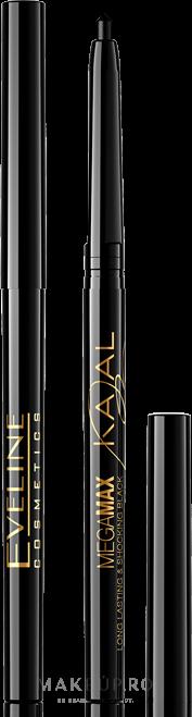 Creion dermatograf automat pentru ochi - Eveline Cosmetics Kajal Mega Max — Imagine Negru