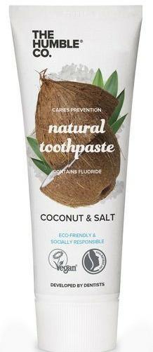 """Pastă de dinți naturală """"Nuca de cocos"""" - The Humble Co. Natural Toothpaste Coconut & Salt — Imagine N1"""