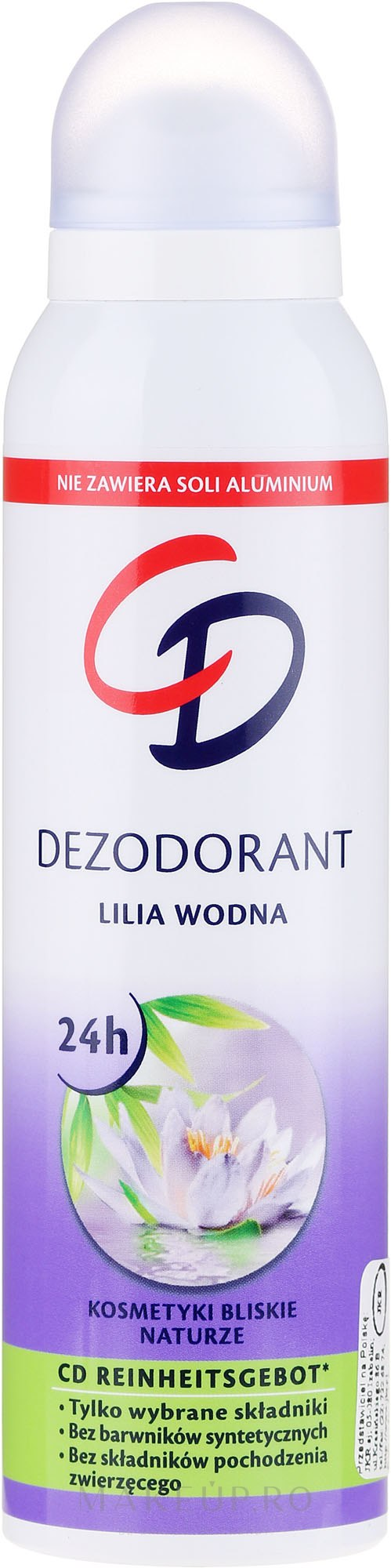 "Deodorant-spray ""Crin de apă"" - CD Deo — Imagine 75 ml"