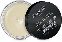 Parfumuri și produse cosmetice Argilă matifiantă pentru păr, fixare puternică - Balmain Matt Clay Strong
