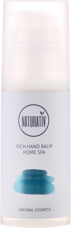 Balsam pentru mâini - Naturativ Rich Hand Balm Home Spa — Imagine N1