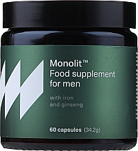 Parfumuri și produse cosmetice Supliment alimentar cu fier și ginseng pentru bărbați - Monolit Food Supplement For Men With Iron And Ginseng